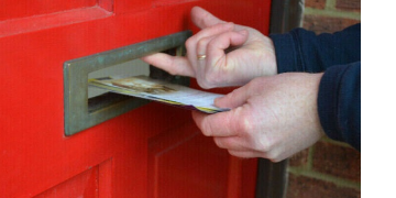 Leaflet distributors, on-foot delivery rounds