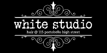 White Studio Hair Portobello logo