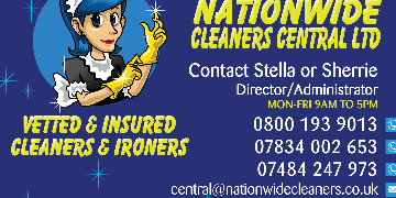 £10 PH DOMESTIC CLEANERS REQUIRED HUNTINGDON/ST IVES